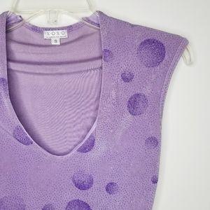 XOXO Purple Glitter Top